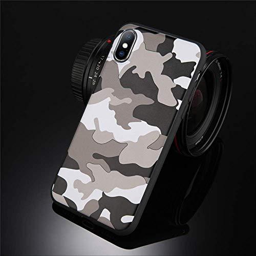 FSSHNZZ Funda Camuflaje Verde Militar iPhone X iPhone