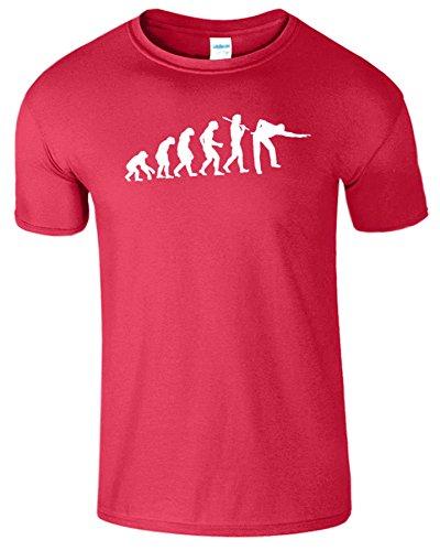Evolution Of Snooker Herren T Shirt Schwimmbad Komisch Spiel Antik Kirschrot / Weiß Design