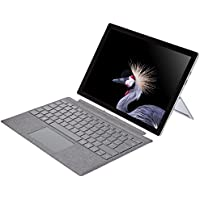 Microsoft Surface Pro (Core i5, RAM 8 Go, SSD 128 Go, Windows 10 Pro) avec Clavier AZERTY Platine Inclus- Nouveau