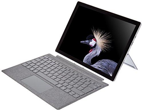Microsoft Surface Pro (core i5, RAM 8 Go, SSD 128 Go, Windows 10 Pro) avec Clavier AZERTY Platine Inclus- Nouveau
