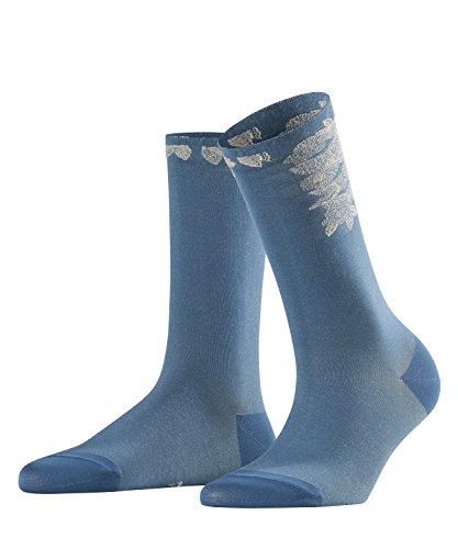 Falk Bloom Craft Chaussette Femme, Bleu, FR : S (Taille Fabricant : 35-38)