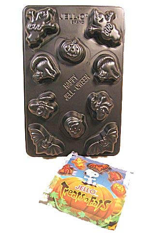 Kostüm Jello - Jigglers Form: Halloween Creepy Jigglers jell-o Gelatine Chocolate Mint Candy Form ~ 10Hohlraum, 5Formen ~ Kürbis Geist Hexe Katze Fledermaus Designs