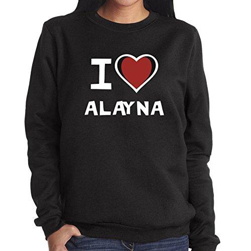 Felpa da Donna I love Alayna