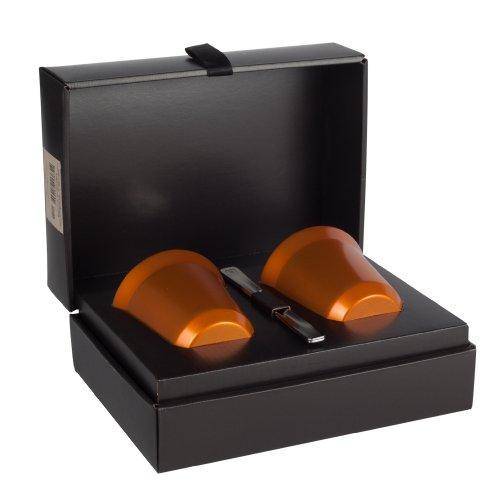 2 tazzine nespresso pixie lungo linizio in metallo arancioni. Black Bedroom Furniture Sets. Home Design Ideas