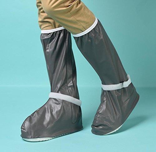 HHBO Grande copertura antisdrucciolevole della scarpa da pioggia impermeabilizza il pattino dei pattini gray