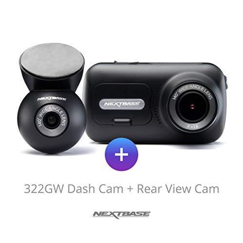 Nextbase 322gw Dash Cam and Wired Rear Cam Bundle (322GW+Rear Cam)