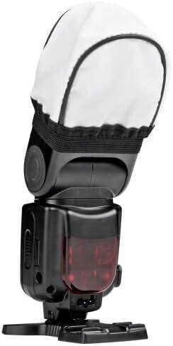 Difusor de flash blanco Maxsimafoto compatible con Canon Speedlite 580EX 580EX II