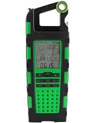 Image of Eton - Caricabatterie solare Raptor con AM/FM/SW, altimetro, barometro, bussola, cronografo, orologio, apribottiglie