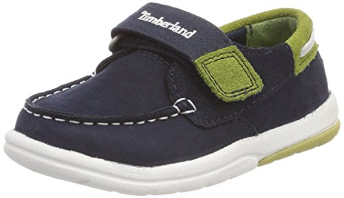 Timberland Toddle Tracks, Mocassini Unisex-Bimbi, Blu (Navy Naturebuck 410), 21 EU