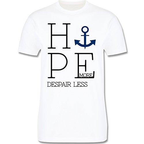 Statement Shirts - Hope more despair less - Herren Premium T-Shirt Weiß