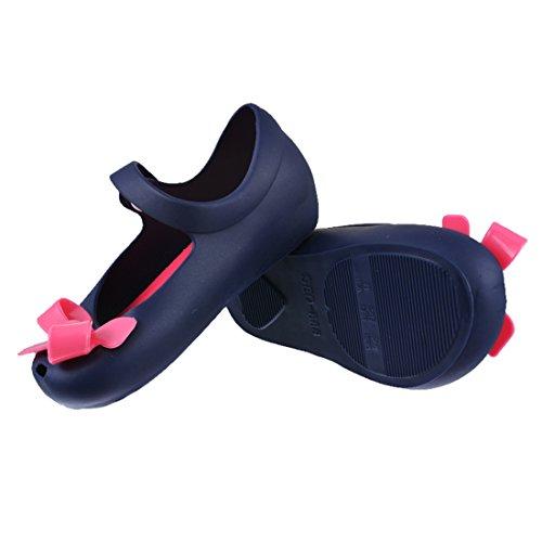 Encounter Enfant Fille Sandales Chaussures Gelés Été Noeud Enfant Souple Mignon Bleu