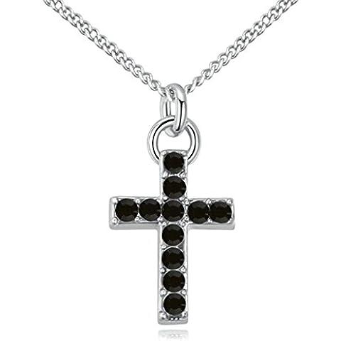 KnSam Donne Placcato in Oro Collane a Catena Jesus Croce Cristallo Zirconia Cubica [Novità