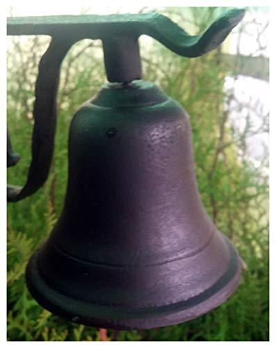 Grande hierro fundido puerta Bell Timbre correa piel