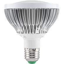 Riuty Paquete de 2 Bombillas LED de Cultivo con lámpara, lámpara de Cultivo E27 50W
