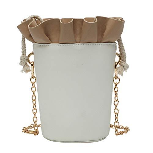 Mitlfuny handbemalte Ledertasche, Schultertasche, Geschenk, Handgefertigte Tasche,Damenmode Ketten Rüschen Eimer Umhängetaschen Geldbörse Messenger Bag