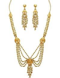 Jaipur Mart Alloy Metal Gold Plated Gold Color Necklace Set (KBSN402GLD)
