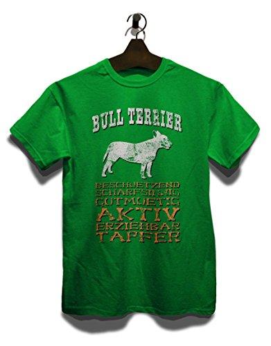 Hund Bull Terrier Herren T-Shirt Grün