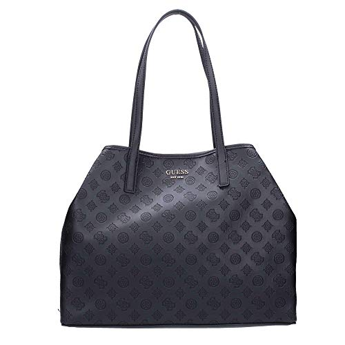 Guess VIKKY LARGE TOTE BLA BLACK -