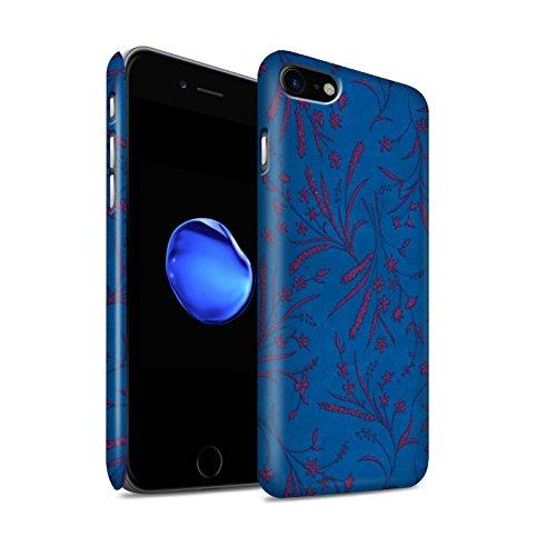 STUFF4 Matte Snap-On Hülle / Case für Apple iPhone 8 / Rot/Grün Muster / Weizen Blümchenmuster Kollektion Blau/Rosa