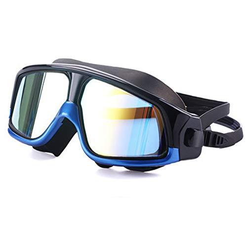 Shpmhbl occhiali antinebbia per nuoto occhiali protettivi grandi per occhiali da surf uv resistenti agli occhiali colorati per adulti uomini e donne, blu nero