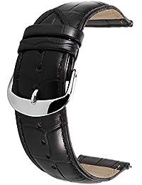 c179608ee7 Cinturino Orologi Cuoio Genuino Di Vitello Cinturini Di Ricambio Adatta Per  Orologi Tradizionali Sportivi Smart Watch