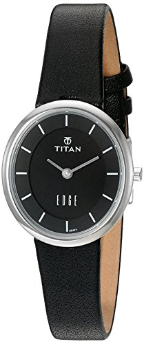 Titan Women's 2517SL02 Edge Analog Display Quartz Black Watch