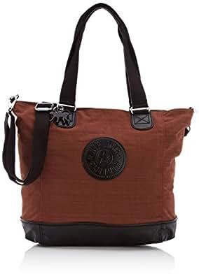 Kipling Shopper Combo, Cabas mode femme  - Marron (Dazz Brown Tf)