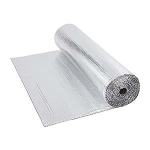 Biard - Isolant Thermique et Acoustique - Feuille Aluminium à Bulles - Isolation Sol Toit Mur - Rouleau 12m²