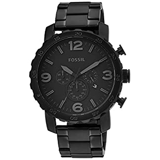 Fossil Nate Chronograph Black Dial Men's Watch – JR1401I