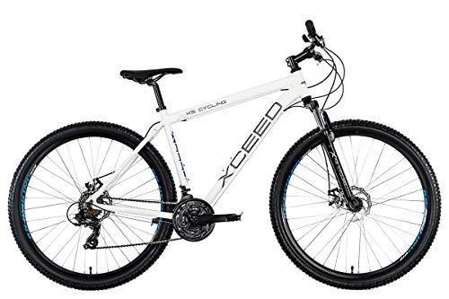 KS Cycling Unisex- Erwachsene Mountainbike Xceed Weiß, 51 cm