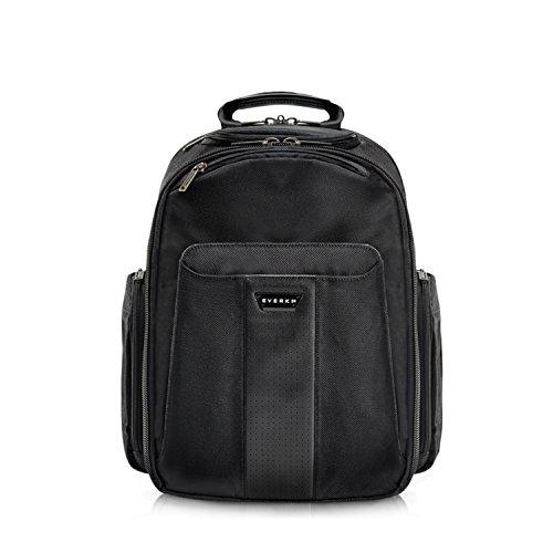Everki Versa - Premium Laptop Rucksack für Notebooks bis 14,1 Zoll (35,8 cm) / MacBook Pro 15 Zoll mit patentiertem Ecken-Schutz-System, Brillen-Hartschalenfach und weiteren hochwertigen Funktionen, Schwarz (Versa-notebooks)