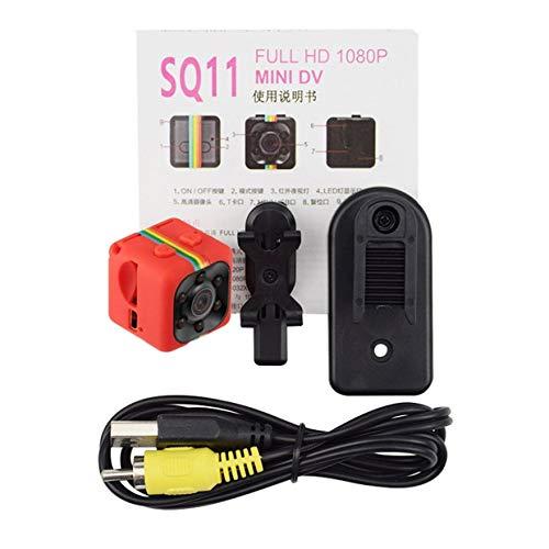 MXECO SQ11 Mini Videocamera portatile 1080P Videocamera HD Batteria al litio Videoregistratore vocale Sport DV Camera Supporto TF Card TV OUT