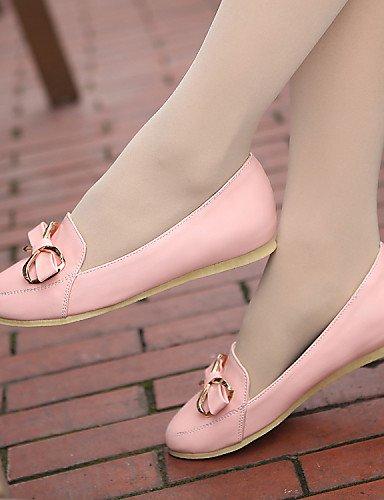 PDX/femme Chaussures en similicuir Talon Plat Bout Rond appartements extérieur/athlétique/décontracté Noir/bleu/rose/blanc