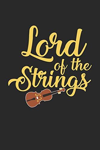 Lord Of The Strings: Kontrabass  Notizbuch liniert DIN A5 - 120 Seiten für Notizen, Zeichnungen, Formeln | Organizer Schreibheft Planer Tagebuch