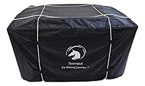 Tourrazzi Car Roof Top Luggage Carrier Cover | Roof Rack Cover - Waterproof Fabric (Black)