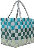 GearUp Kunststoff Flechtkorb - Wäschekorb - optimal als Einkaufs- oder Strandkorb geeignet Farbe Classic/Haikili