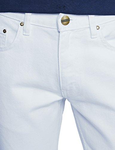 Oklahoma Jeans R140, Jean Coupe Droite Homme, Noir Weiß (White 007)