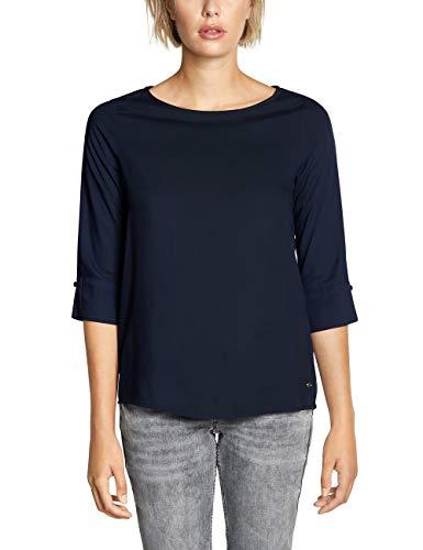 CECIL Damen Bluse 341687, Blau (Blau (deep blue) 10128), XX-Large (Herstellergröße:XXL)