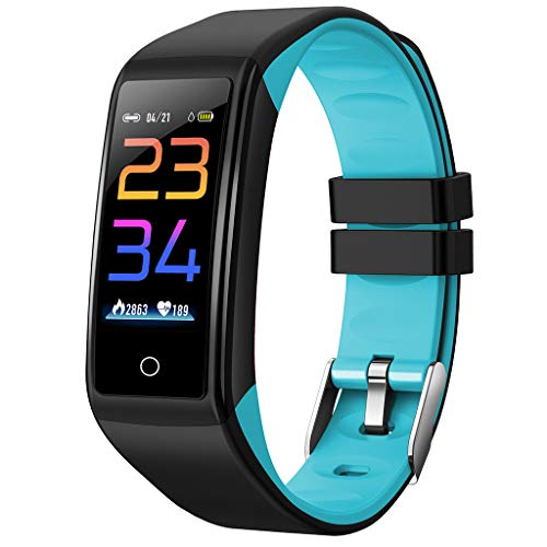 Clacce G26S Fitness Tracker Uhr Bluetooth Smart Uhr Armband Armband Schrittzähler Sport Fitness Tracker Überwachung Smart Watch Monitor Schritt Kalorien Schlaf Sport Smart Band (H3, Blau G) - Zähler-monitor Kalorien