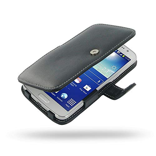 PDair Handarbeit Leder Hülle - Leather Book Case for Samsung Galaxy Grand 2 SM-G7102