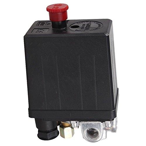 ACAMPTAR Hoch Druck Luft Kompressor Druck Schalter Steuer Ventil 90 Psi -120 Psi Schwarz -