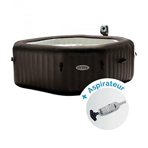 Pack Spa gonflable Intex Pure Spa Jets et Bulles 6 personnes + Aspirateur nettoyeur à batterie