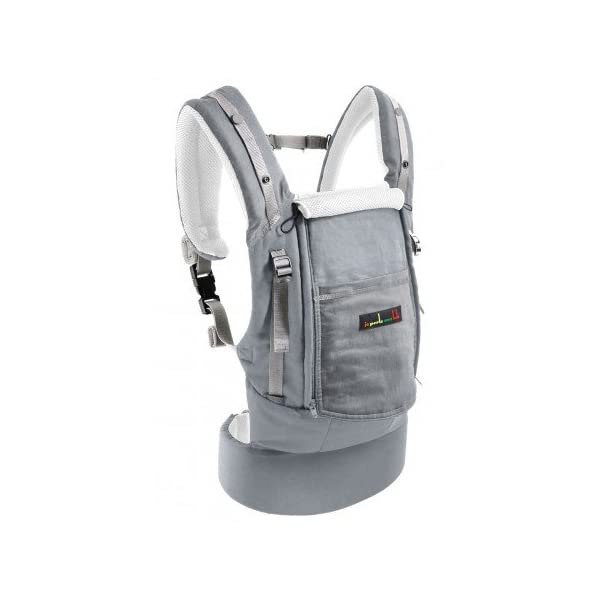 """Je Porte Mon Bébé The physiocarrier jpmbb Elephant Je Porte Mon Bébé thermo-ventilation 4Seasons, """"which zip Seat of the baby from birth with the physiological Booster expansion pack * (* option: Booster Seat and Head Support Cushion) Belt and comfortable wide shoulder straps and respirâtes 1"""