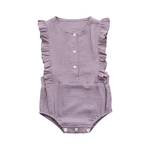 BeautyTop Baby Kinder Spielanzug Schulterfrei Strampler Baby Mädchen Kleinkind Kurzarm Kinderkleidung Baby Toddler Strampelanzug ()