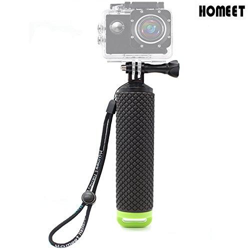 Homeet Impugnatura Galleggiante Handle Mount Floating Grip Impermeabile per GoPro Hero SESSION/SJCAM/Garmin Virb XE/Yi 4K/DBPOWER QUMOX/Akaso/Apeman,-Verde