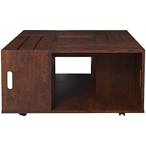 Caja de vino mesa de café con almacenamiento