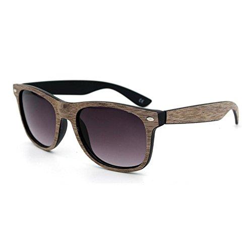 Meijunter Männer Frauen Middin Bamboo Holz Sonnenbrille Coated Spiegel Brille Eyewear UV400 Anti-Glare Brille