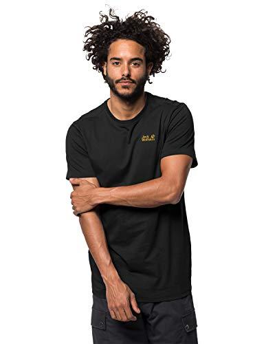 Jack Wolfskin Herren Essential T-Shirt, schwarz (Black), XL