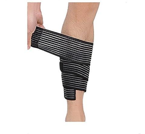 Butterme mollet Compression Wrap stabilisateur soutien sangle Bandage Strain Entorse Joint haute élasticité pour la course, le jogging, la marche, Crossfit et de remise en forme des athlètes