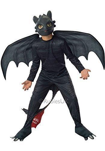Kinder Nacht Fury Outfit Toothless Rubine Offizielle Train Your Dragon 2 Kostüm - translation, original, Size - Small - 3-4 Years, (Zahnlos Kostüme)